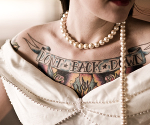 bride, Tattoos, and girl image