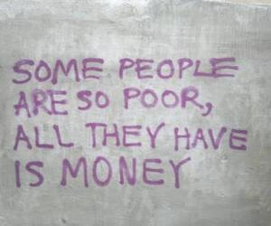money, quotes, and poor image