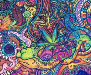 colourful, peace, and drugs image