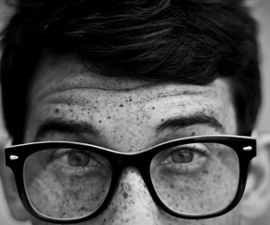boy, glasses, and freckles image