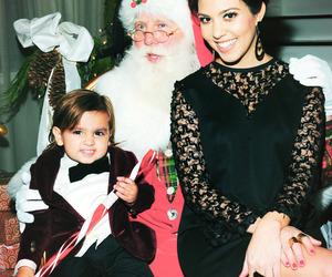 santa, christmas, and kourtney kardashian image