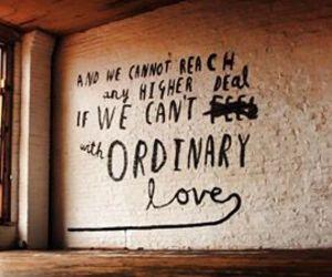 u2, ordinary love, and Lyrics image