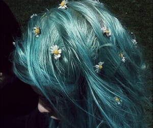 blue, pretty, and hair image