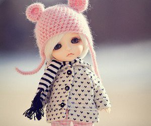 doll, cute, and pink image
