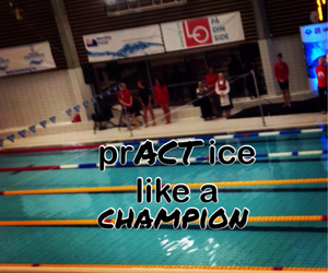 champion, practice, and swimmer image