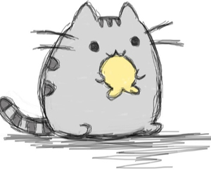 pusheen drawing discovered by f h l o r a i s o n