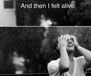 alive, rain, and black and white image