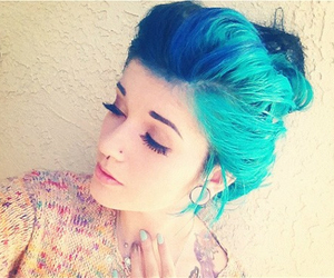 blue, creative, and girl image