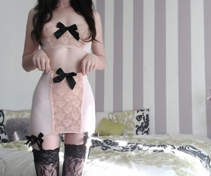 girl, sexy, and garter image