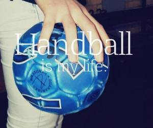 handball, life, and ball image