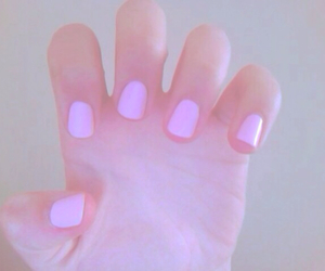 nails, pink, and pale image