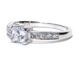 promise ring and princess cut promise ring image