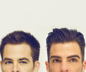 chris pine and zachary quinto image