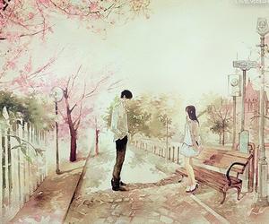 anime, couple, and art image