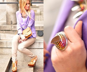 fashion, purple, and ring image