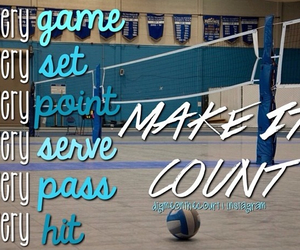 blue, quote, and volleyball image