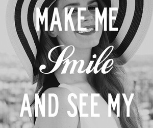 lana del rey, smile, and quote image