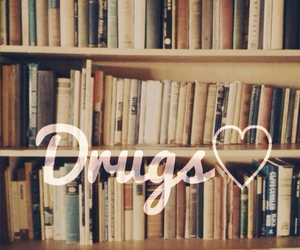 book, drugs, and love image