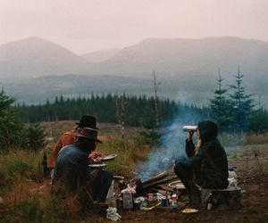 friends, nature, and camping image
