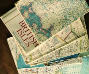 map, travel, and british isles image