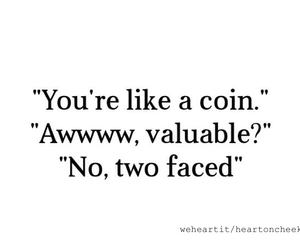 coin, two faced, and funny image