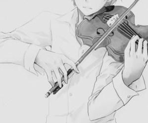 anime, violin, and manga image