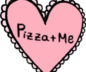 pizza, overlay, and heart image