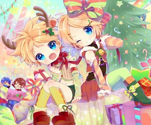 anime and kagamine rin and len image