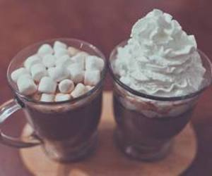 foot, hot chocolate, and marshmallow image