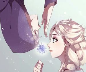 couple, frozen, and jack frost image