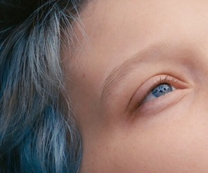 blue, hair, and blue is the warmest color image
