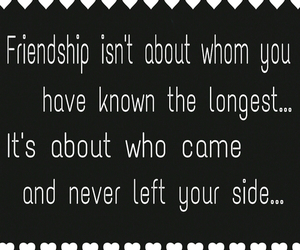 blackandwhite, friendship, and quote image