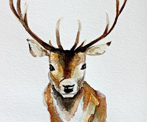 deer, drawing, and love image