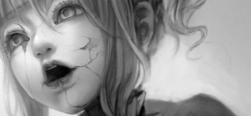 sad, broken, and doll image
