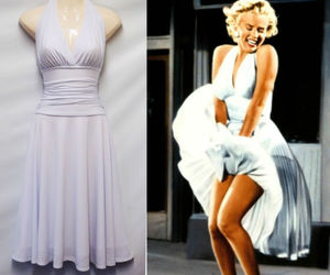 Marilyn Monroe, dress, and black and white image