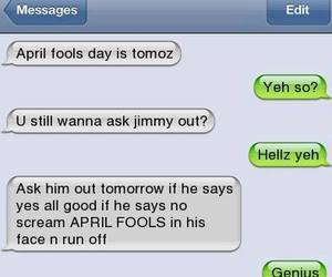 funny, april fools, and love image