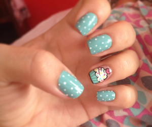 cupcake, dots, and manicure image