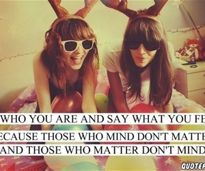 quote, friends, and be yourself image