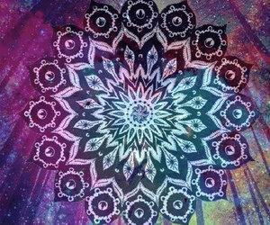 mandala, art, and galaxy image
