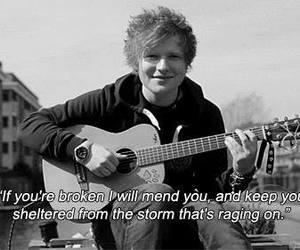 ed sheeran, quote, and song image
