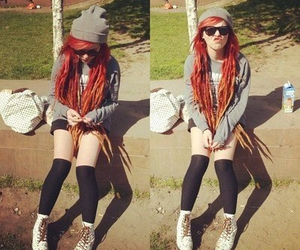 dreads and red hair image