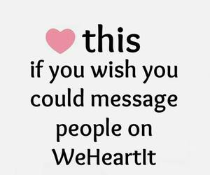 message, we heart it, and wish image