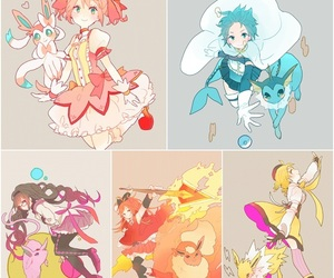 anime, eevee, and fan art image