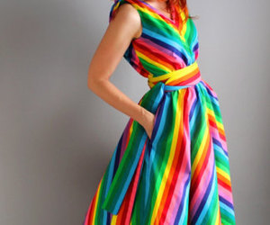 colourful, stripes, and dress image