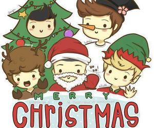merry christmas and one direction image