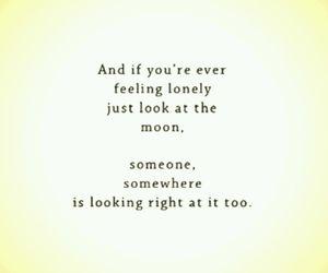 lonely, moon, and someone image