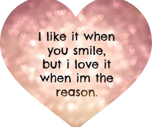 love, smile, and reason image