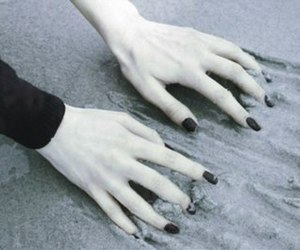 hands, pale, and black image