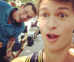 john green, ansel elgort, and the fault in our stars image