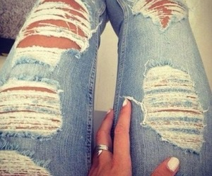 denim, jeans, and distressed jeans image